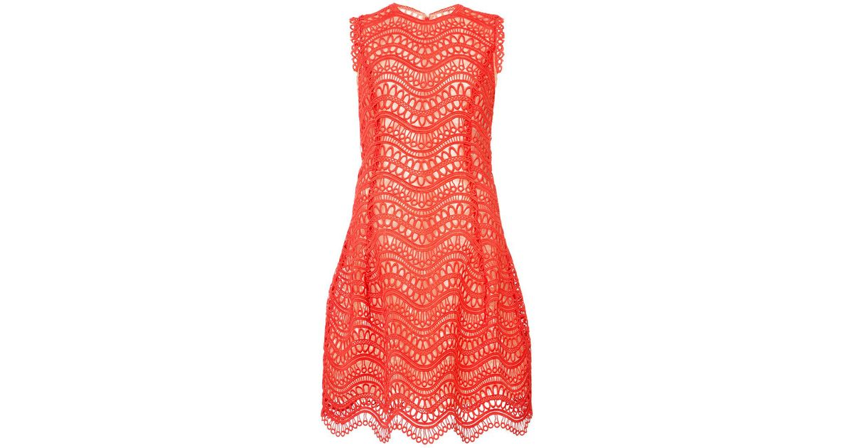 crochet-knit scalloped-hem dress - Yellow & Orange Oscar De La Renta Pay With Paypal Cheap Price Very Cheap Clearance Outlet Pay With Visa Cheap Online Inexpensive 3eld1bo