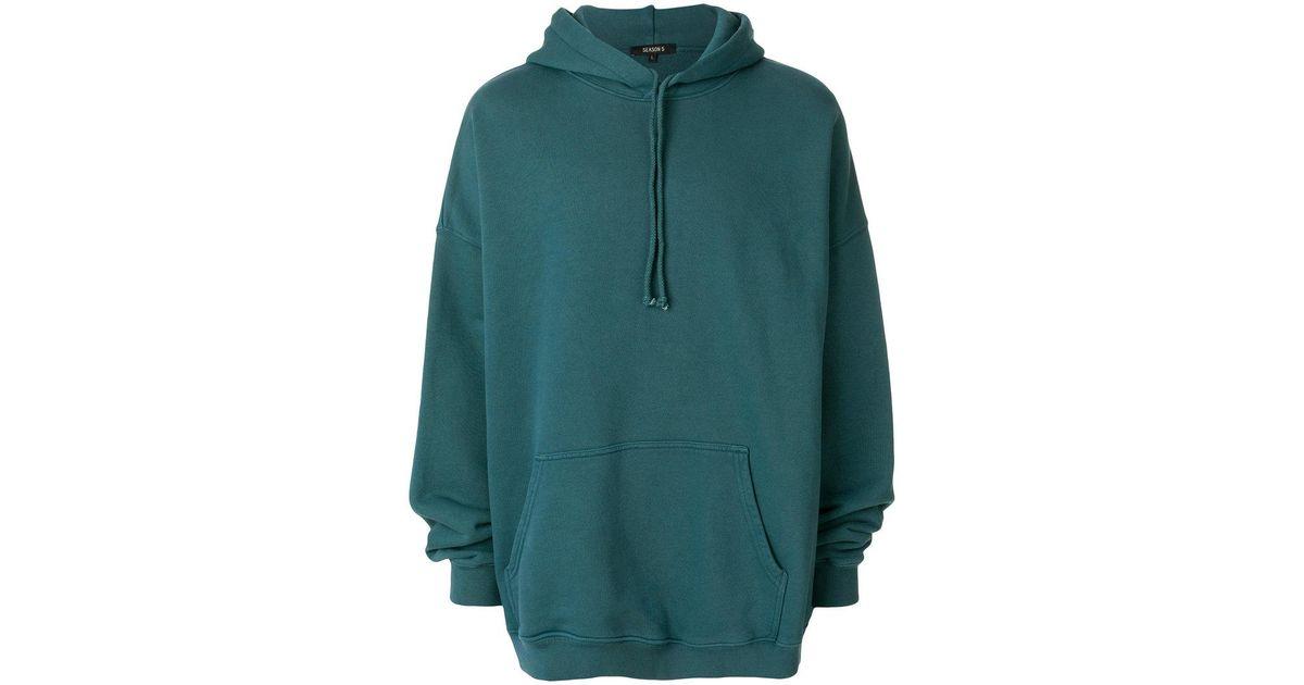 74e31dfaa Lyst - Yeezy Oversized Hooded Sweater in Blue for Men