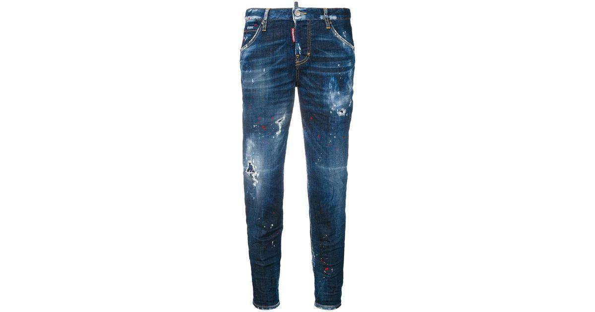 distressed hockney jeans - Blue Dsquared2 StZKZ