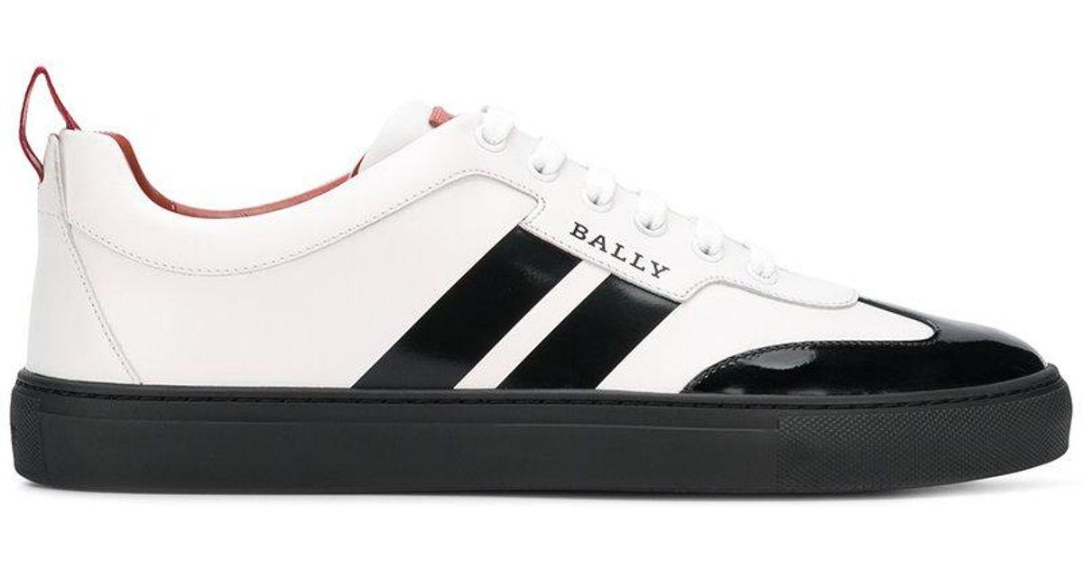 Bally Leather Hendrik Print Sneakers in
