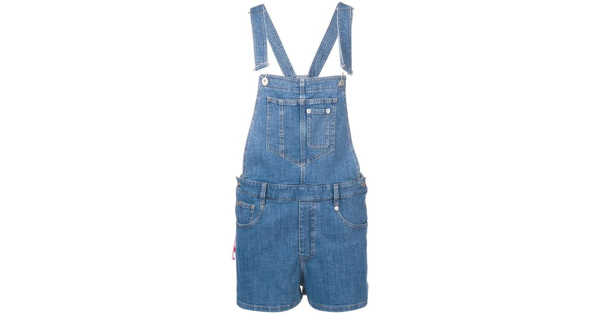 736c4d62db01 Lyst - Miu Miu Denim Dungarees in Blue
