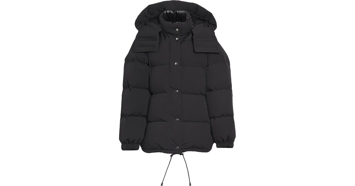 91fd3668b69 Burberry Detachable Hood And Sleeve Down-filled Puffer Jacket in Black -  Lyst