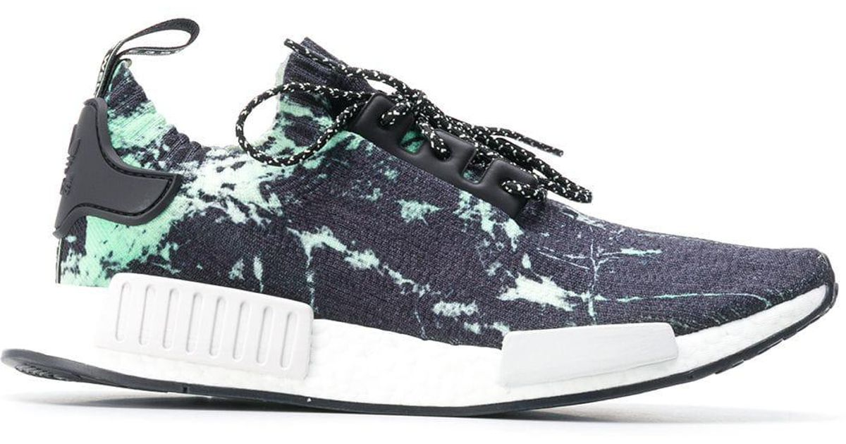new product dc888 06c6b Adidas Blue Nmd R1 Marble Primeknit Sneakers for men
