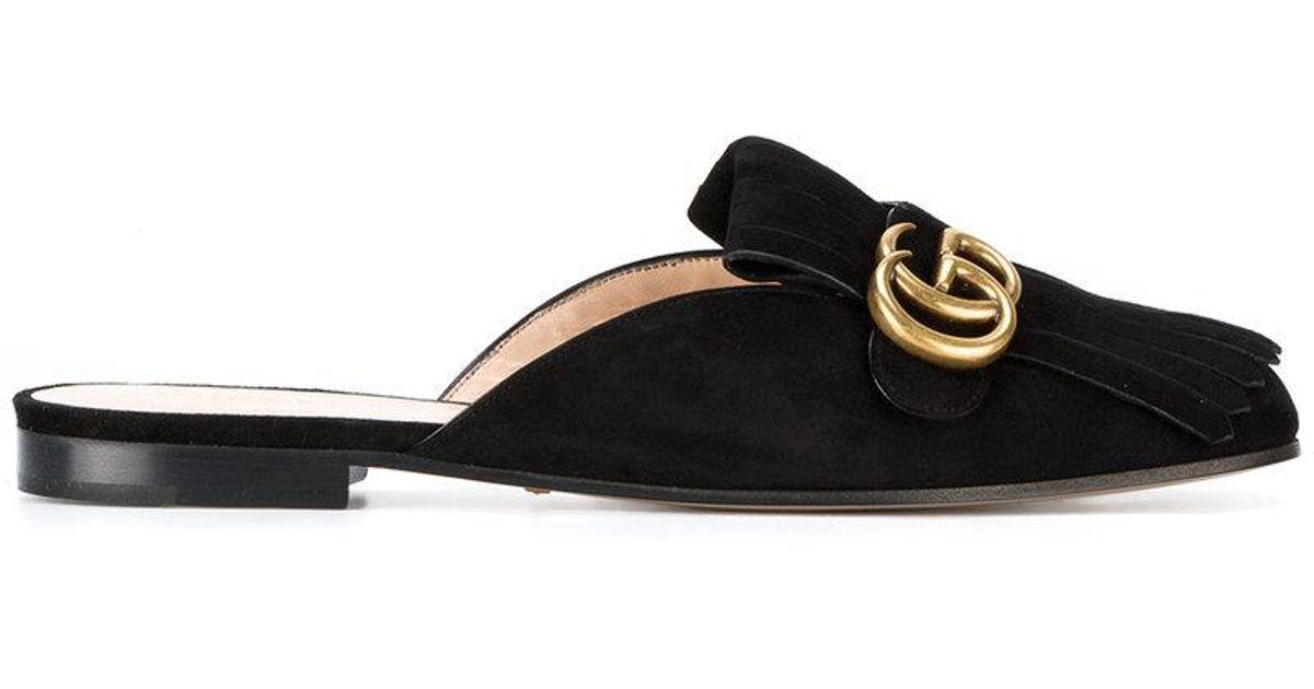 Gucci Pantoufles Gg - Noir Marmont v6wsiOP