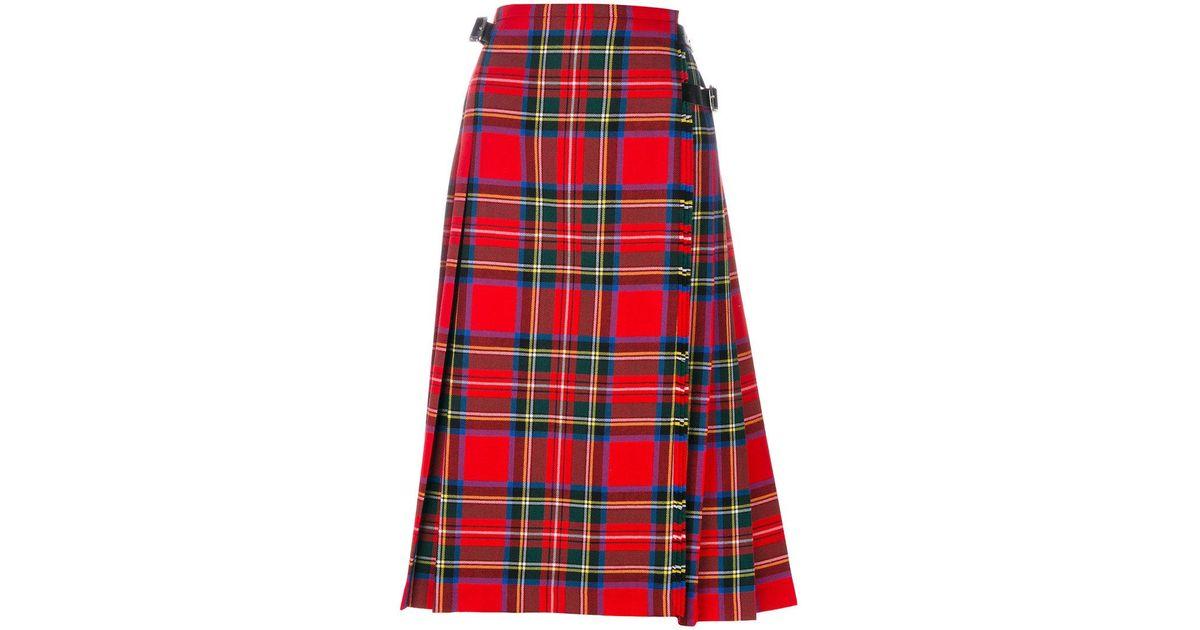 Christopher Kane Wool Royal Stewart Tartan Midi Kilt In