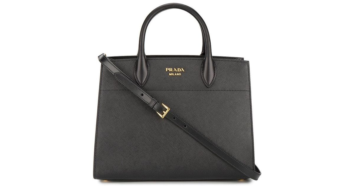 Black Bibliotheque Large Tote Bag Prada 39hA5