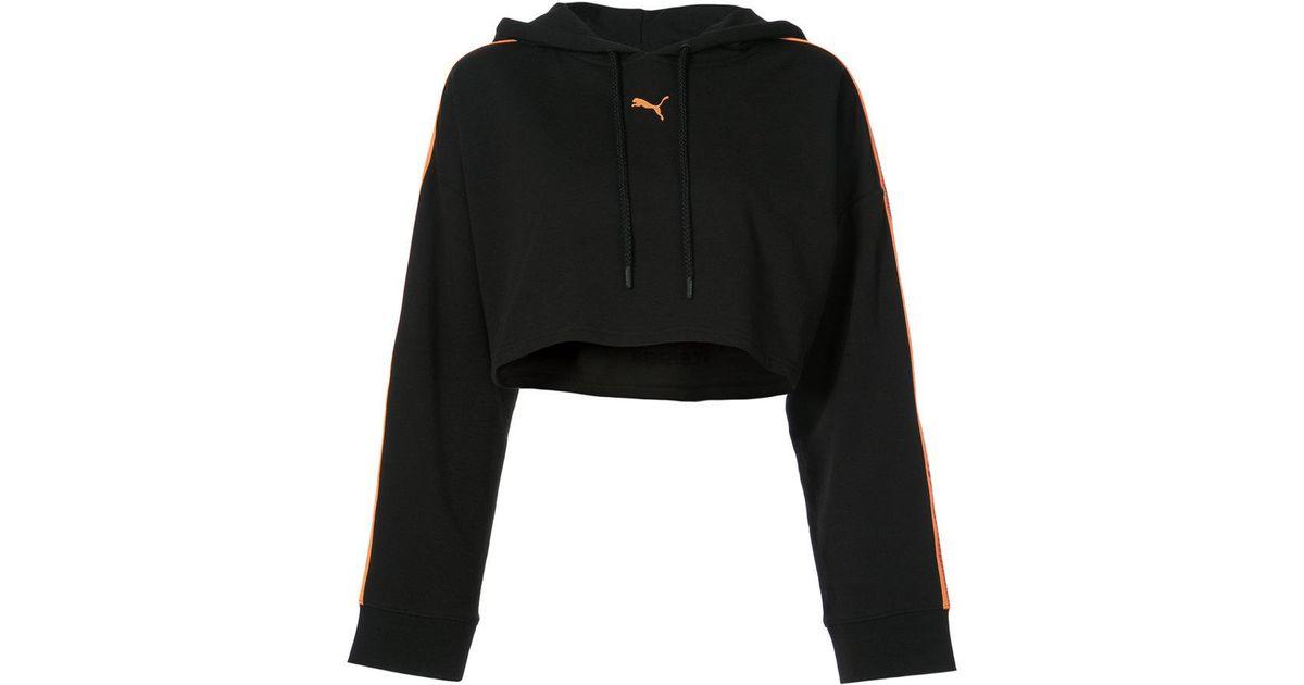 precio loco talla 7 gran ajuste Sudadera corta con capucha y logo PUMA de color Black