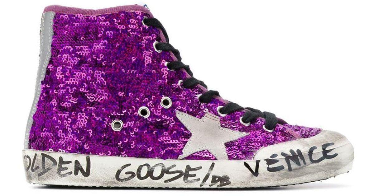 Baskets Venice brodées de sequins Golden Goose Deluxe Brand en coloris Purple
