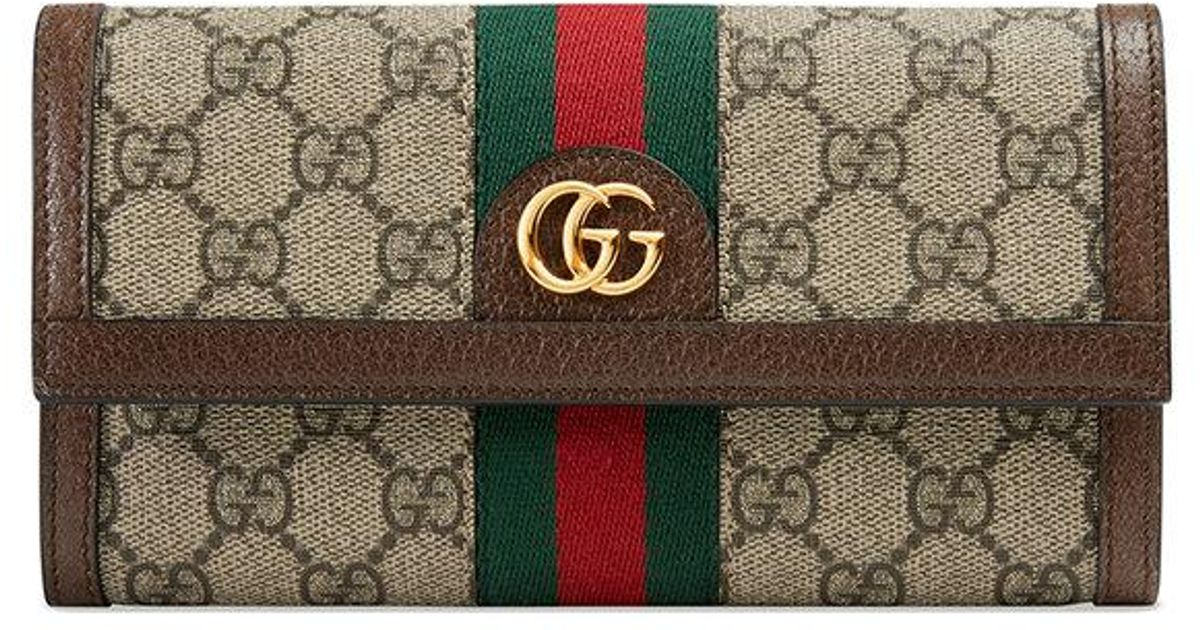 aece06c6ca64 Gucci Ophidia Gg Continental Wallet - Lyst