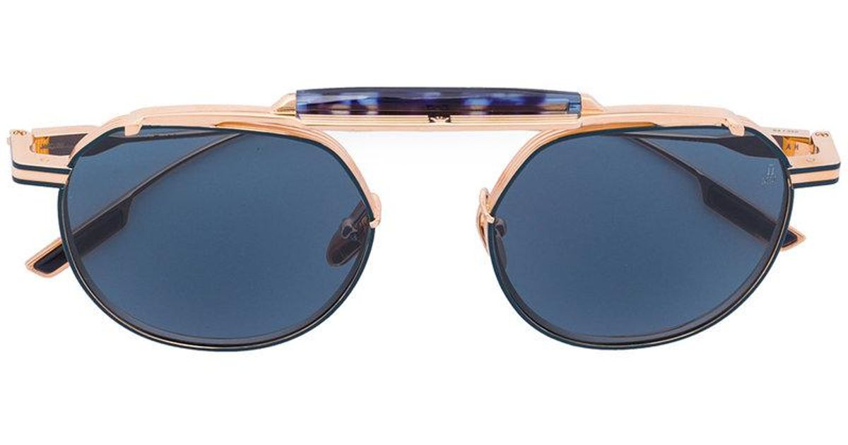 oval frame sunglasses - Metallic Jacques Marie Mage xsrp4sBb