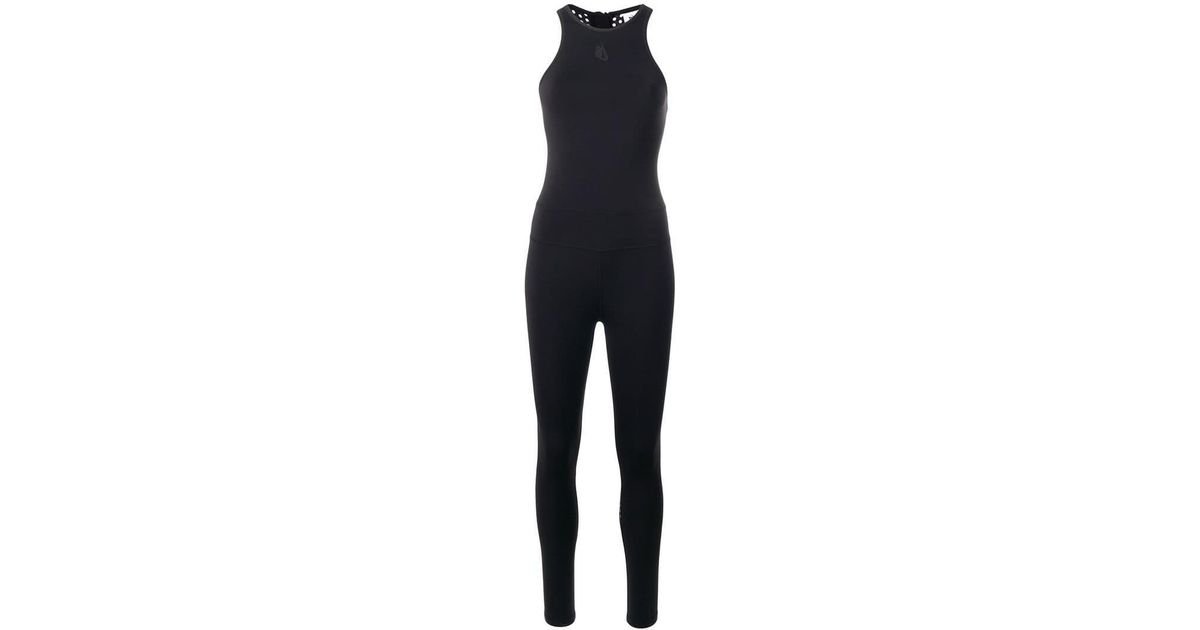 fdb5532e256 Lyst - Nike Essential Mesh-panelled Jumpsuit in Black