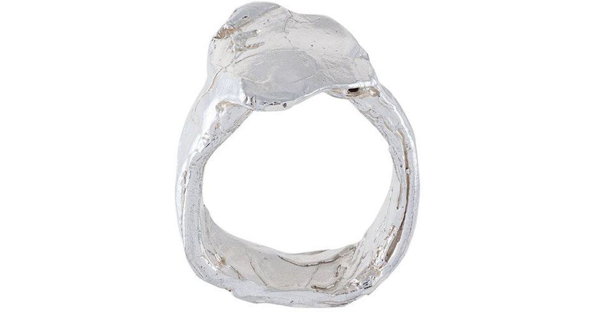 ALIGHIERI The Reckless Pursuit ring - Metallic FyEd4L07T