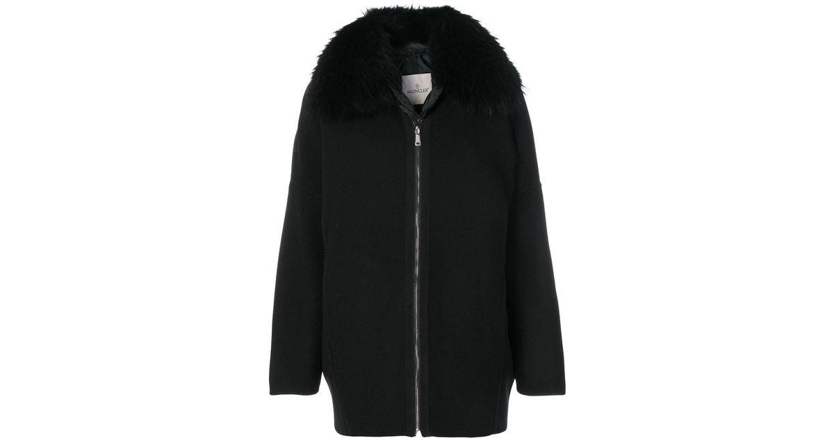 01575293a Moncler Black Buxus Coat