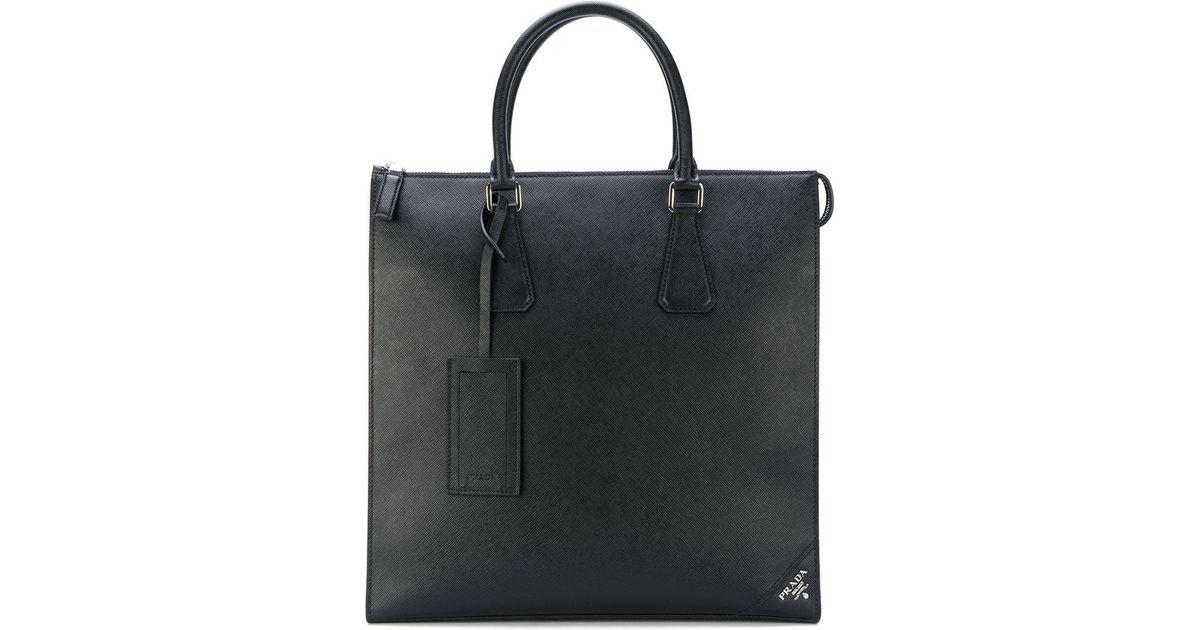 fabrication habile meilleure sélection de détaillant Sac à main rectangulaire Prada pour homme en coloris Black