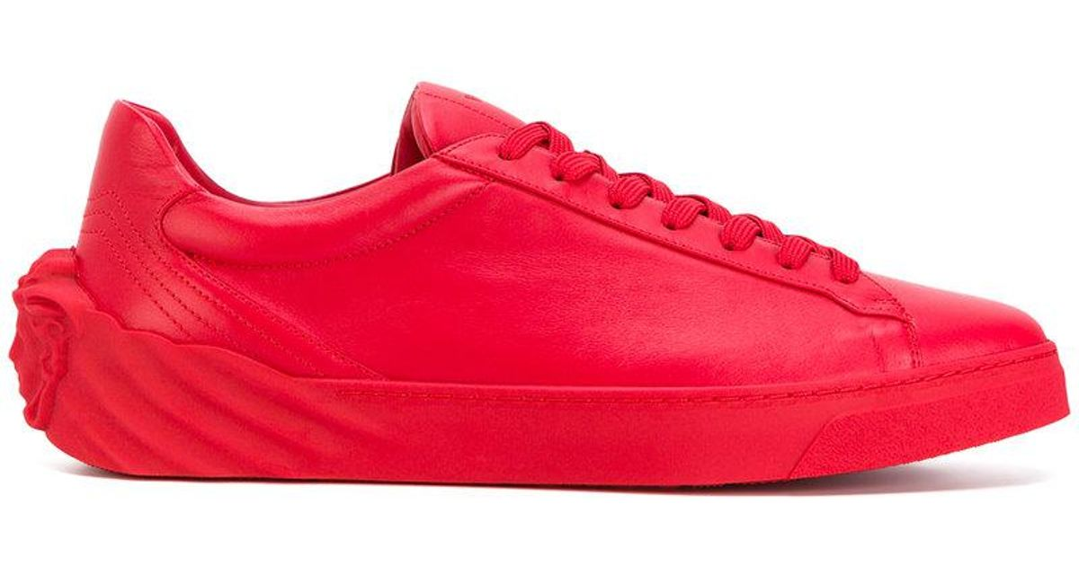 Lyst - Versace 3d Medusa Sneakers in Red for Men - Save 23%