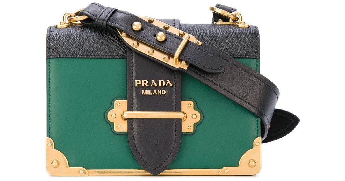 Lyst - Prada Box Bag in Green 853c140c73258