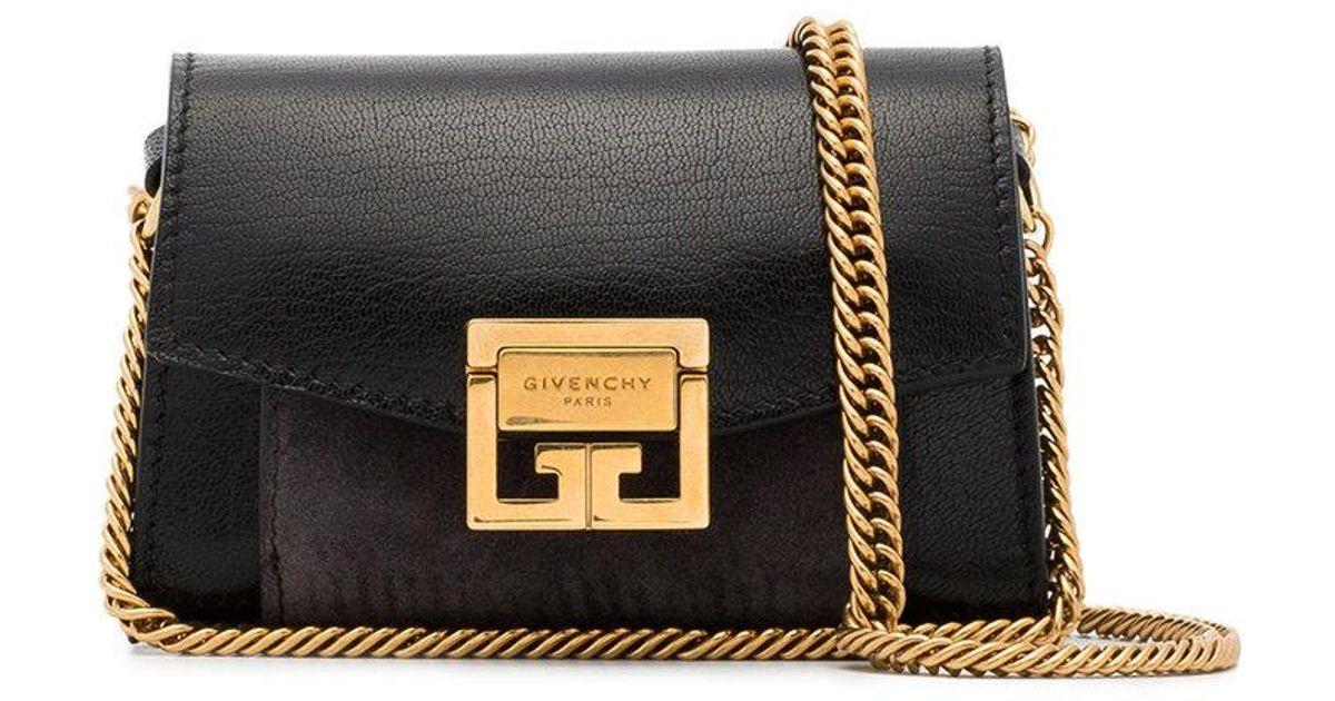 47ef09c80519 Lyst - Givenchy Nano Gv3 Bag in Black