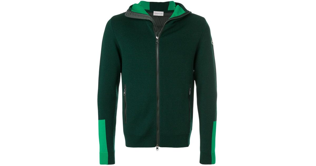 moncler green hoodie
