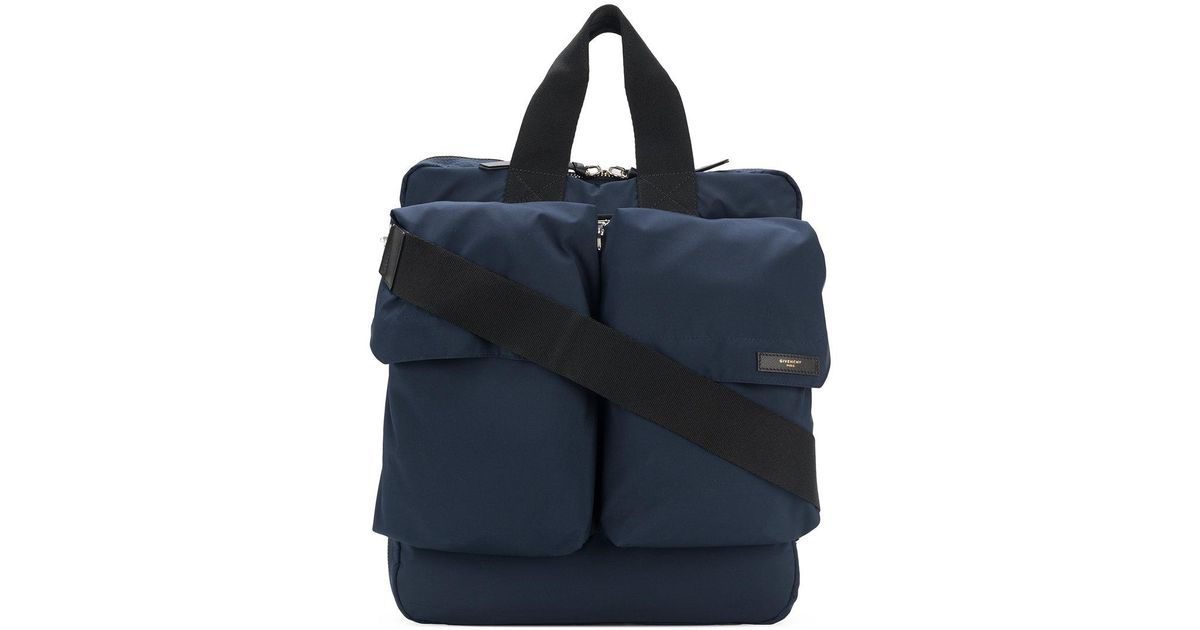 double pocket tote bag - Blue Givenchy Particular Outlet Hot Sale Outlet Visit New The Cheapest Cheap Price Outlet Locations Online VCqfPnxipk