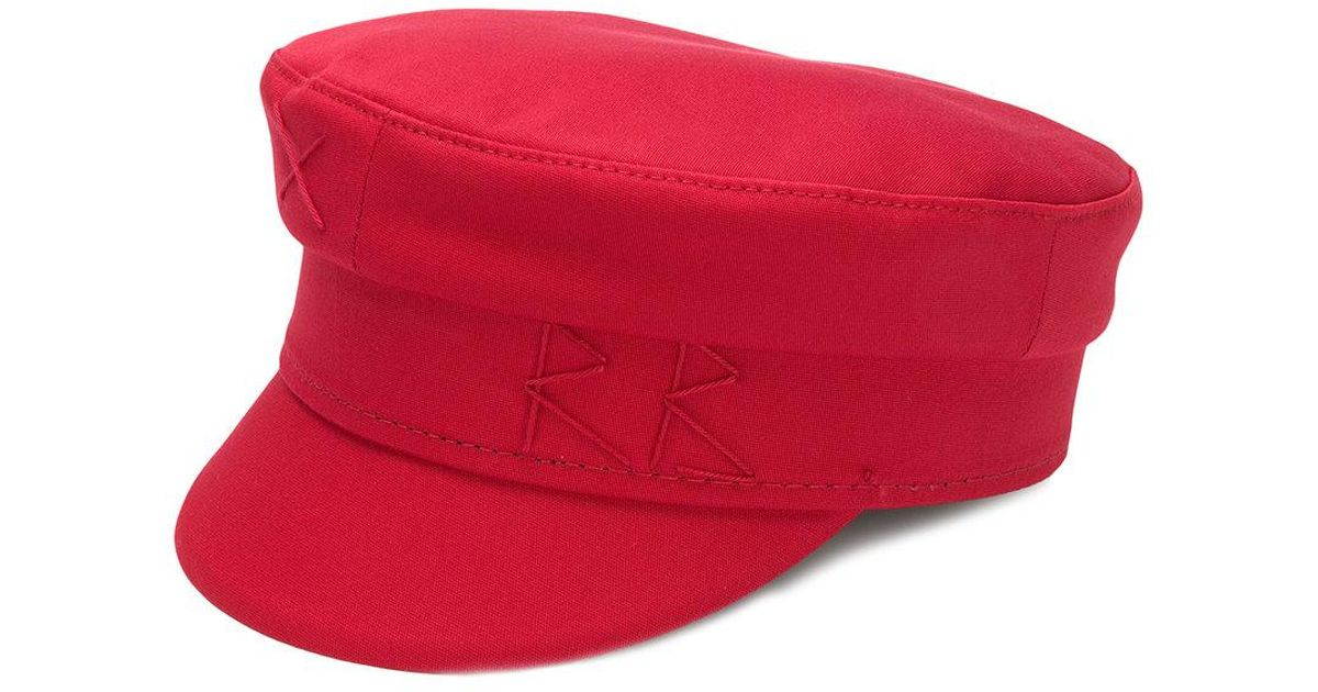 95a80edd500 Lyst - Ruslan Baginskiy Embroidered Greek Fishermans Hat in Red