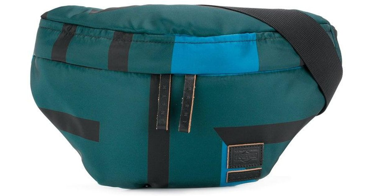 ca1f13d2d65a Lyst - Marni X Porter Waist Bag With Stripes in Blue for Men