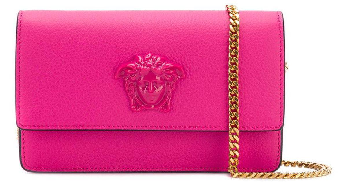 52aec748 Versace Pink Medusa Crossbody Bag