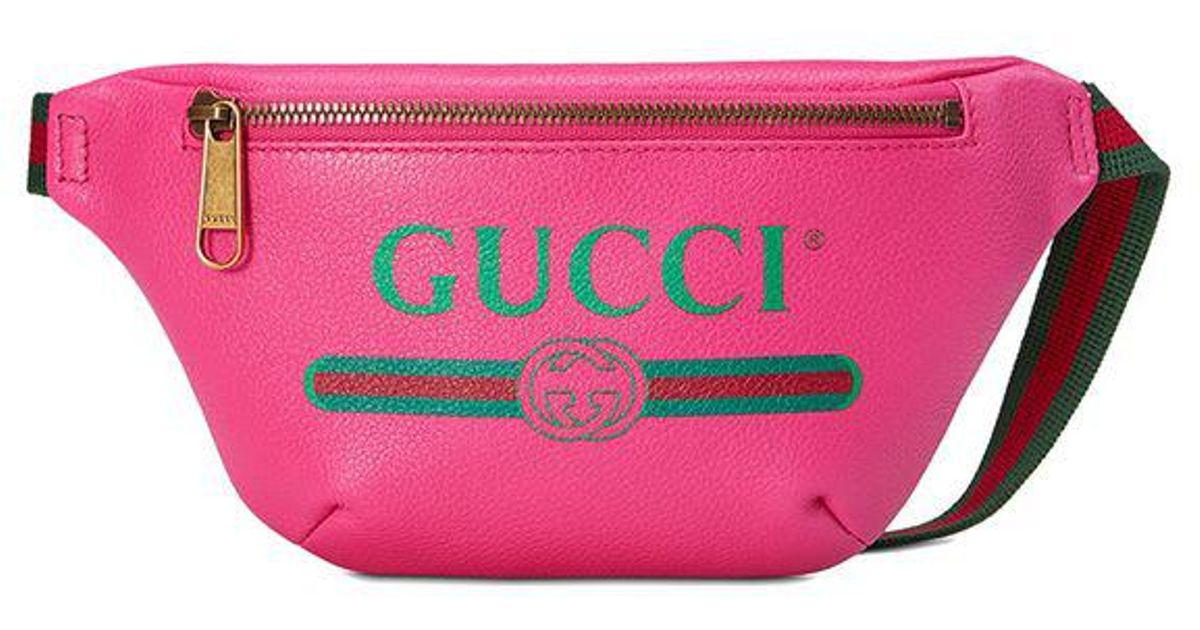 196758fbcd4 Lyst - Gucci Print Small Belt Bag in Pink - Save 22%