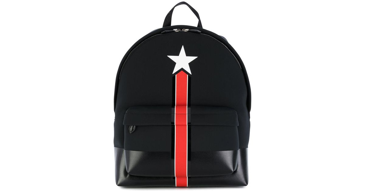 889ccdc951 Givenchy Star And Stripe Print Backpack in Black for Men - Lyst