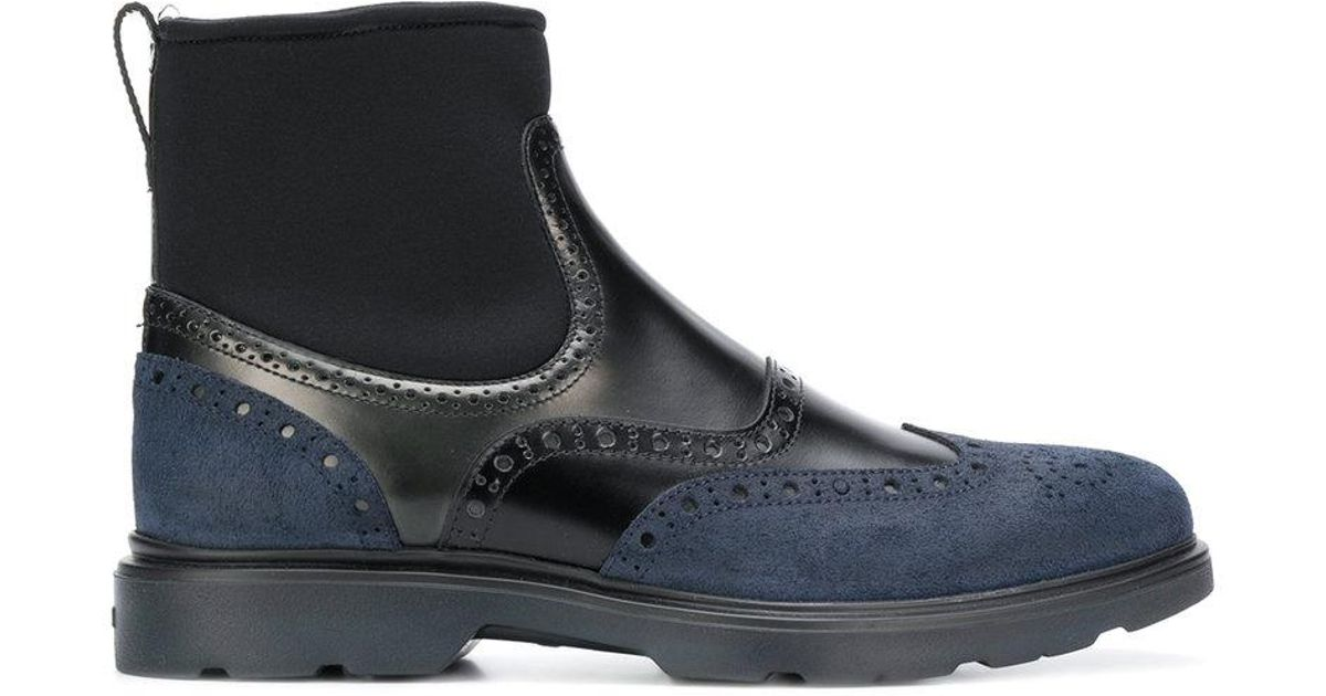 74b7c4be0efa3 Lyst - Hogan Brogue Ankle Boots in Blue for Men