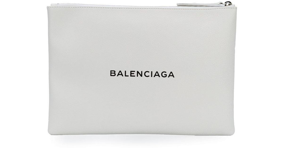 Everyday Clutch Bag - White Balenciaga Visa Payment Cheap Price From China Cheap Low Price Fee Shipping Lowest Price Cheap Price OSCowk