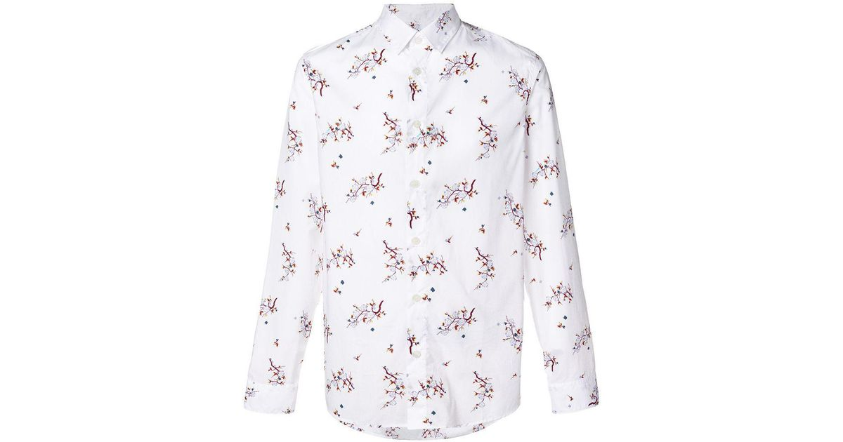 c46c2ed658905 KENZO  cheongsam Flower  Shirt in White for Men - Lyst
