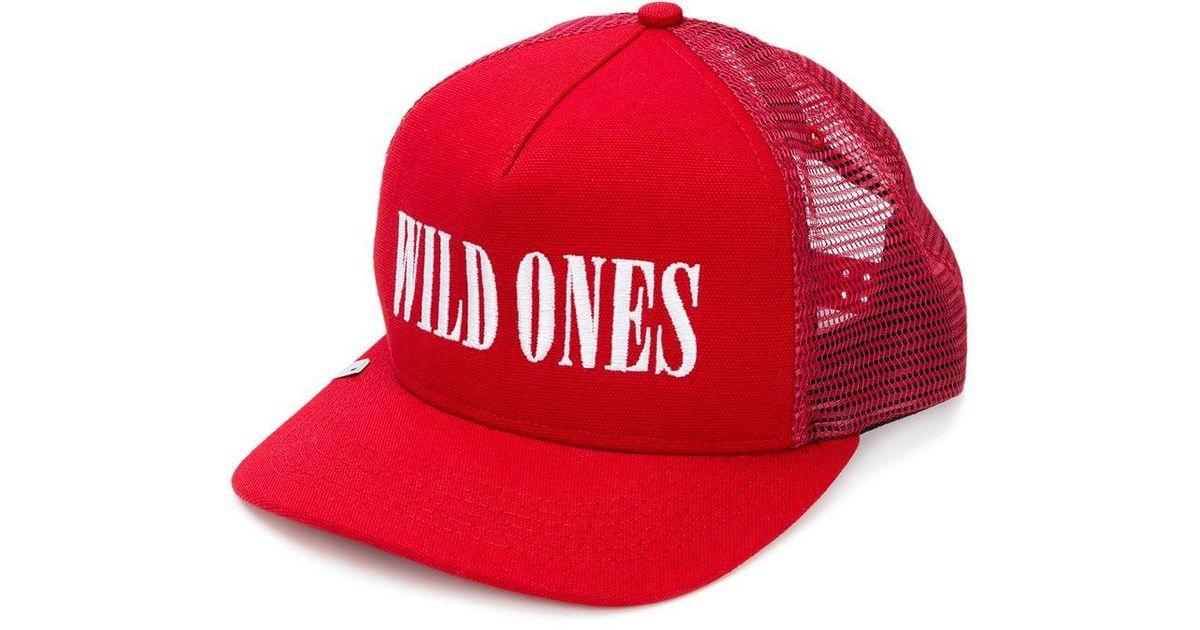 4a69b9ad324 Lyst - Amiri Wild Ones Baseball Cap in Red for Men