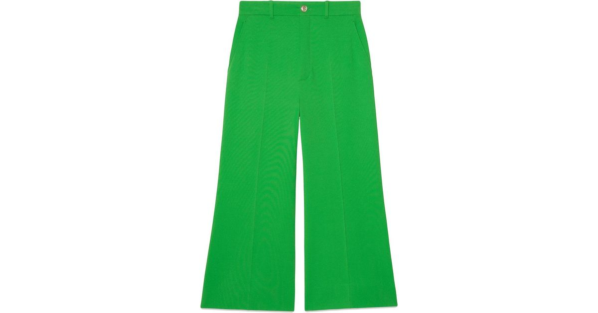 Stretch viscose culotte pants - Green Gucci 8wbt9