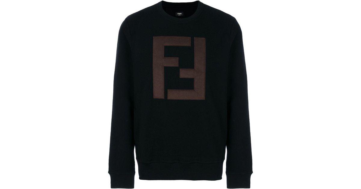 Lyst - Sweat à logo FF Fendi pour homme en coloris Noir 58011e28281