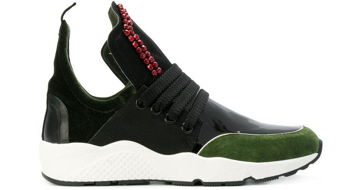 beaded colourblock sneakers - Black No Ka'Oi LplAaJpgl9