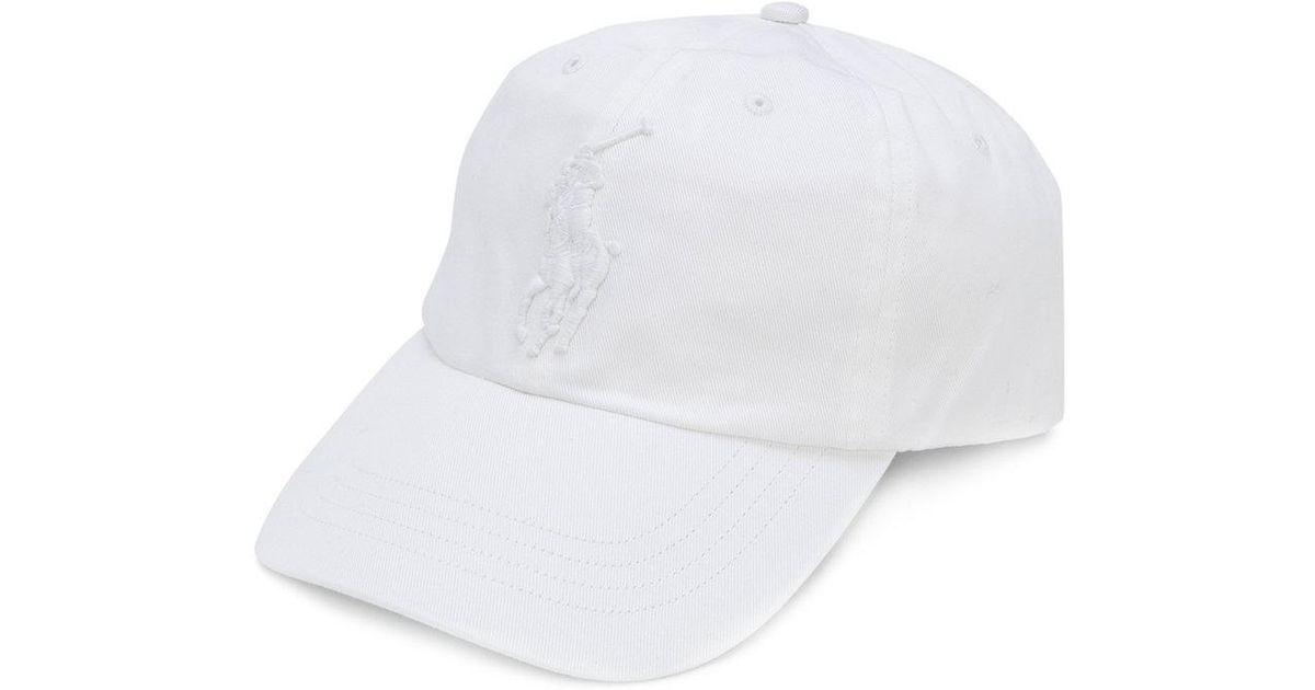 e860624fa0e6 Lyst - Casquette à logo brodé Polo Ralph Lauren pour homme en coloris Blanc