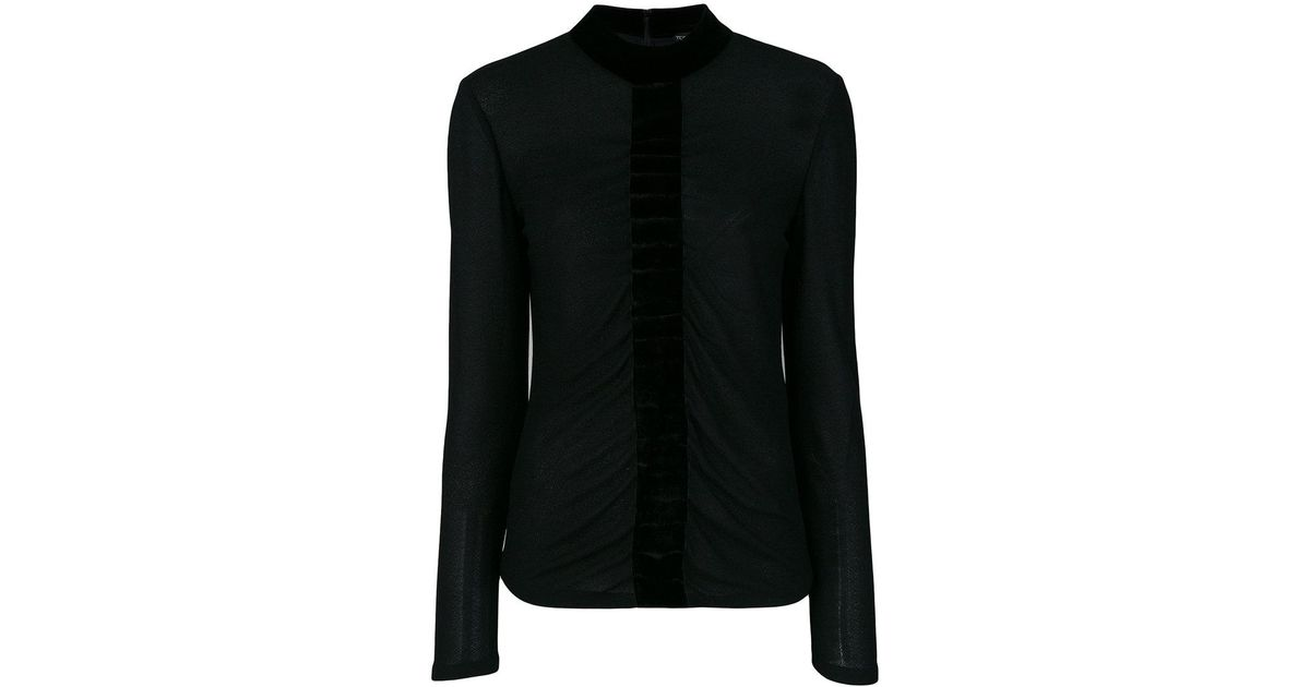 Extremely Sale Online velvet trim blouse - Black Tom Ford Visit Cheap Online Clearance Deals Clearance Cheapest Price Sale 2018 New QXSyJM1B