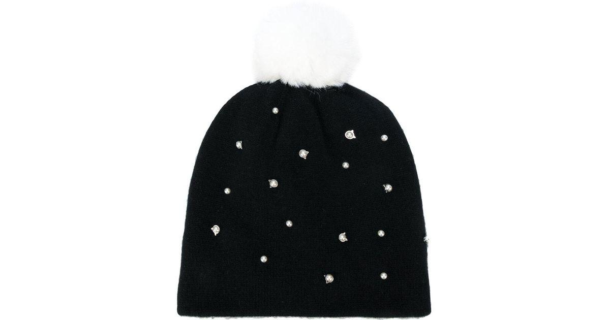pom pom Cat pearls beanie - Black Karl Lagerfeld p9h2S