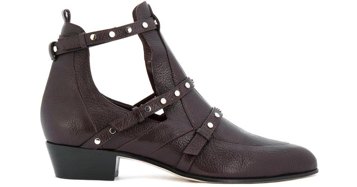759052ecfd5b Lyst - Jimmy Choo Harley 30 Cut Out Booties