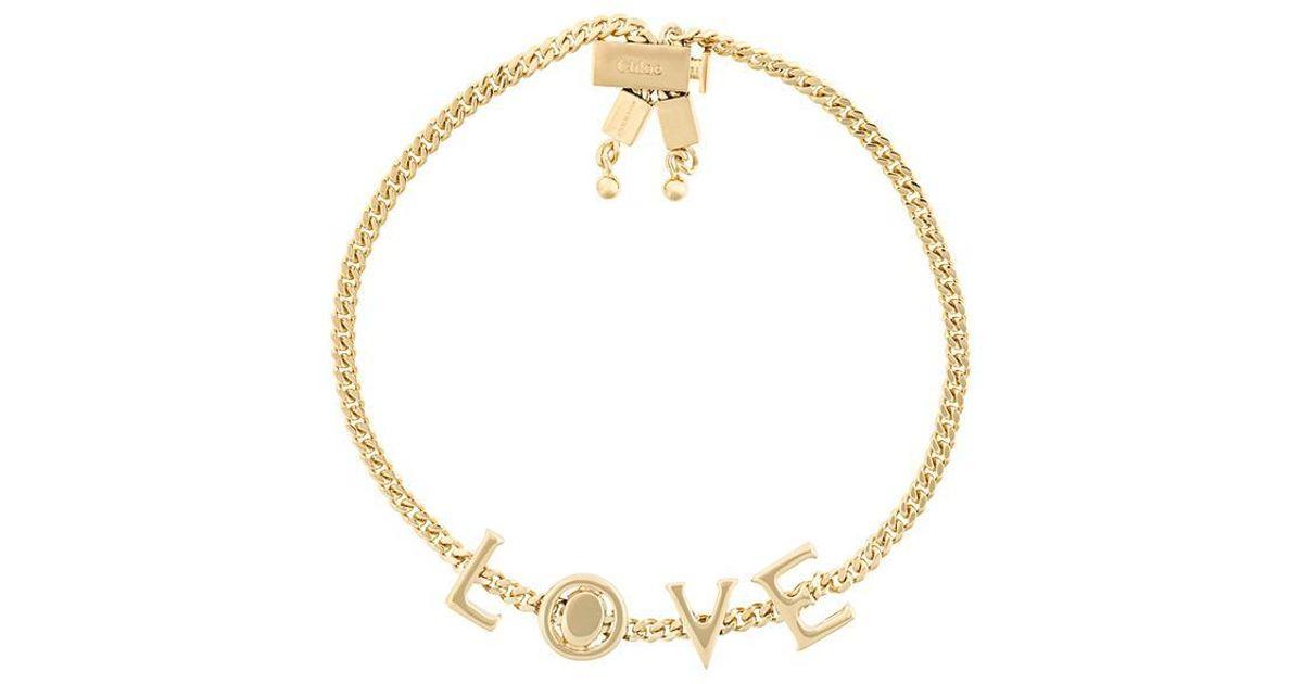 39915c3d Chloé Metallic Love Bracelet