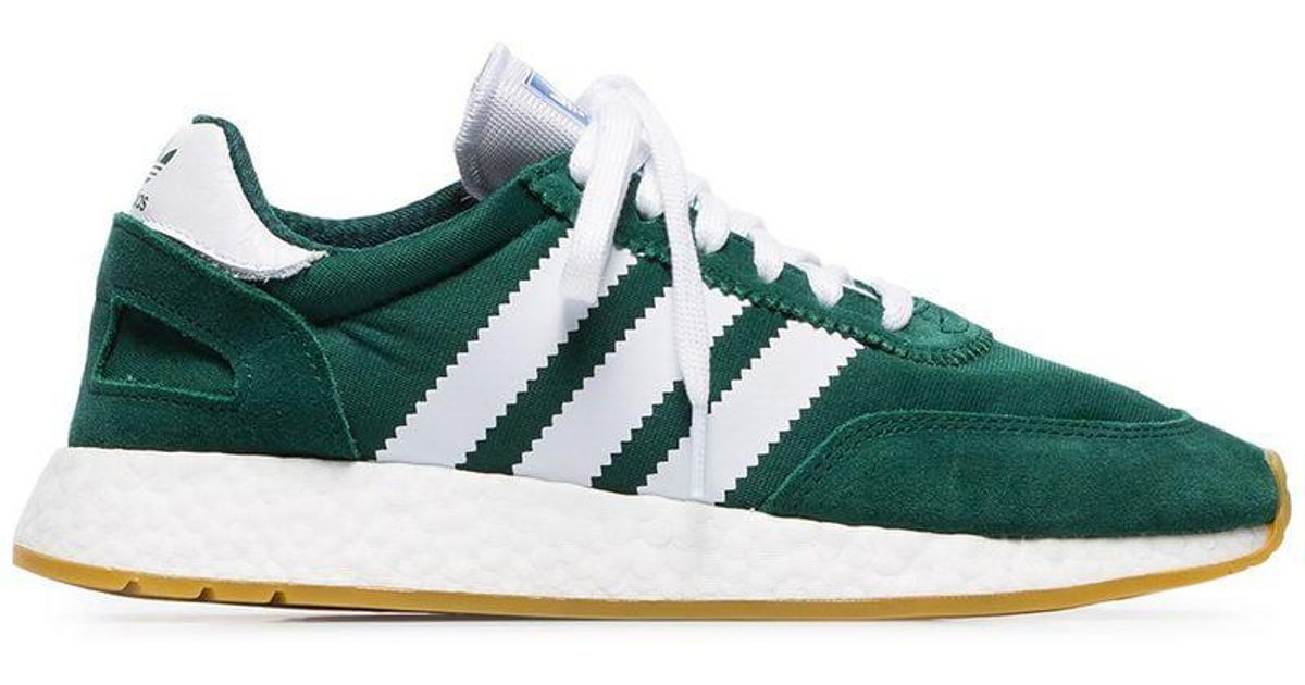 bd480ab87d Adidas Green And White I-5923 Mesh And Suede Leather Sneakers