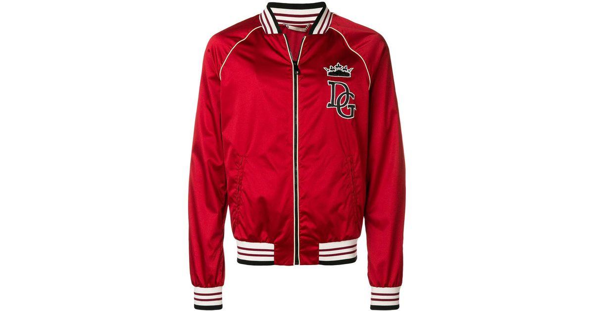 Lyst Gabbana Veste En À amp  Rouge Dolce Patch Logo Pour Homme Coloris  Bomber rrvw0qnf 2562c10e7e08