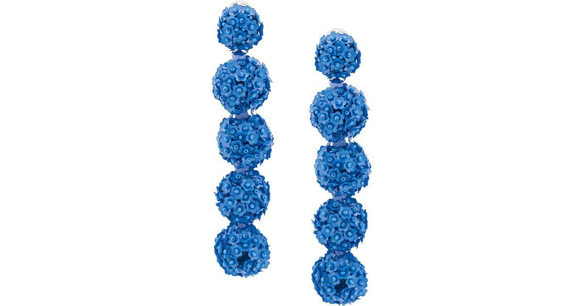 Sachin & Babi Fleur Bouquet earrings - Blue Gy0gx04mO5
