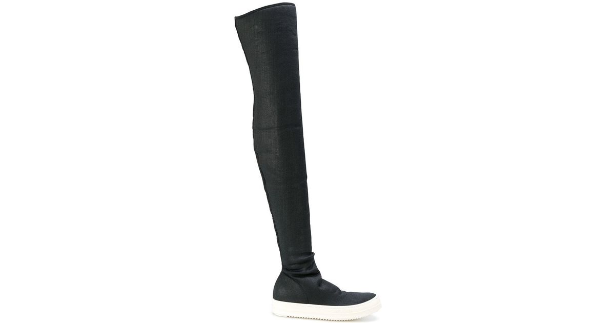 c164c5151843 Lyst - Rick Owens Drkshdw Sneaker Thigh High Boots in Black