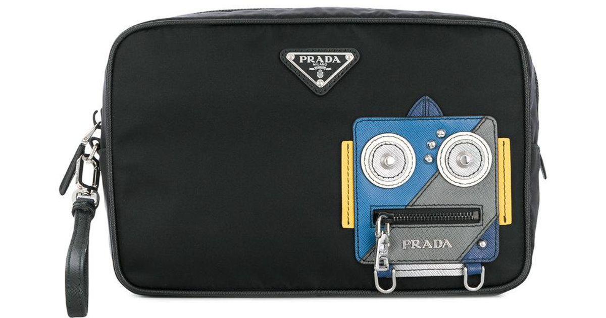 Prada Robot face pouch Discount New 6Lxt1ySU