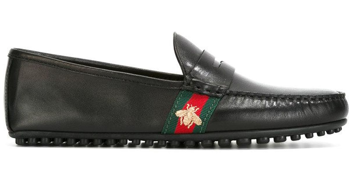 e75c7101d68 Lyst - Gucci Web Trim Loafers in Black for Men