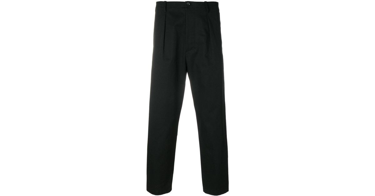 straight leg cropped trousers - Black Valentino S6Wh2QI