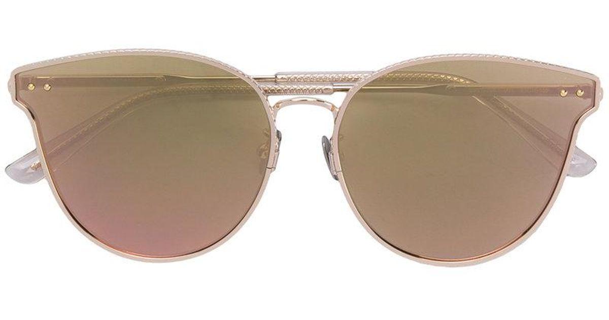 mirrored cat eye sunglasses - Metallic Bottega Veneta TtoVIfm0