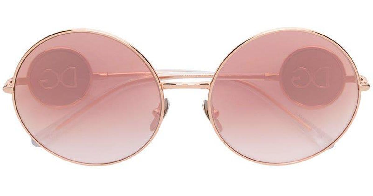 9ff13410f7 Gafas de sol con montura redonda Dolce & Gabbana de color Rosa - Lyst