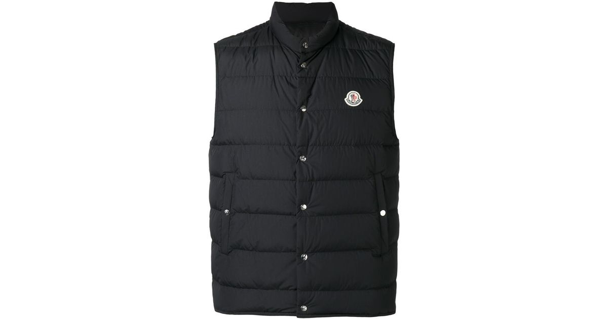 3e46d91ea Lyst - Moncler Febe Padded Gilet in Black for Men
